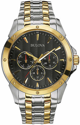 Bulova Mens Two-Tone Stainless Steel Watch 98C120