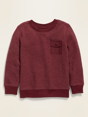 Old Navy Thermal-Knit Utility-Pocket Long-Sleeve Tee for Toddler Boys