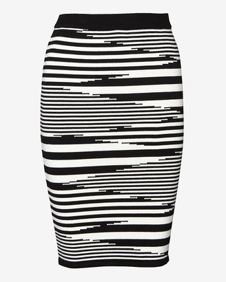 Exclusive for Intermix Striped Knit Pencil Skirt
