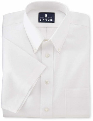 STAFFORD Stafford Travel Short-Sleeve Easy-Care Broadcloth Dress Shirt