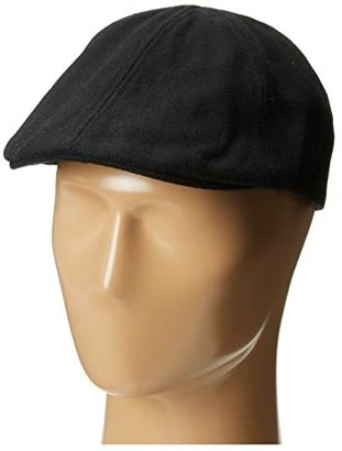 San Diego Hat Company CTH3722 Wool 6 Panel Driver with Inner Stretchband (Black) Driving Hats