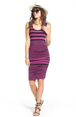 Felicity & Coco Stripe Ruched Jersey Tank Dress (Regular & Petite) (Nordstrom Exclusive)