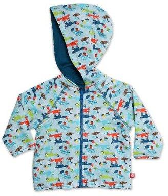 Zutano Baby-Boys Infant Foxtrot Reversible Zip Hoodie