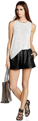 BCBGMAXAZRIA Shorts, Perforated Faux Leather