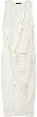 Donna Karan Draped textured-crepe dress