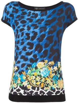 Versace leopard print top