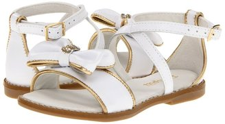 Pampili Agata 270008 (Toddler/Little Kid/Big Kid) (White/Golden) - Footwear