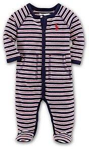 Ralph Lauren Boys' Interlock Striped Footie - Baby