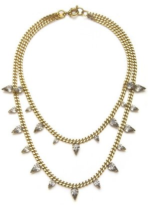 Elizabeth Cole Two Stranded Crystal Necklace
