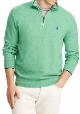 Polo Ralph Lauren Half-Zip Cotton Mesh Sweater