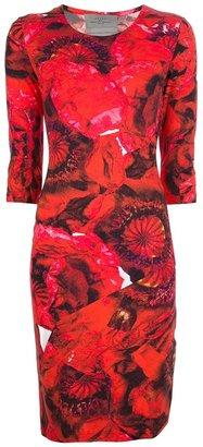 Preen By Thornton Bregazzi poppy print jersey dress