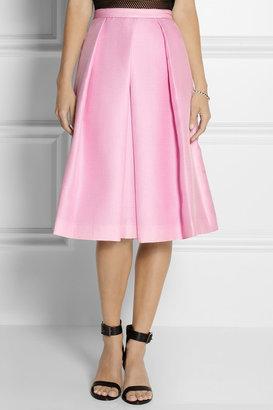 Tibi Simona pleated piqué skirt