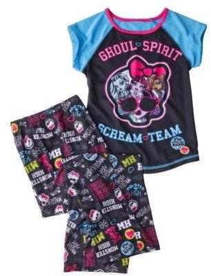 Monster High Girls' 2-Piece Short-Sleeve Pajama Set