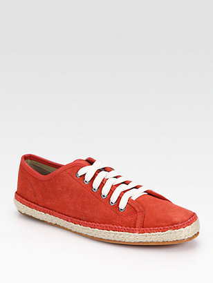 Rag and Bone Rag & Bone Baylor Suede Lace-Up Sneakers