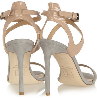 Reed Krakoff Patent-leather and suede sandals