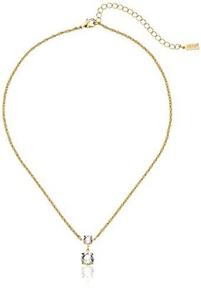 "1928 Jewelry 14k Gold-Dipped Swarovski Crystal Drop Necklace, 18"" $30 thestylecure.com"