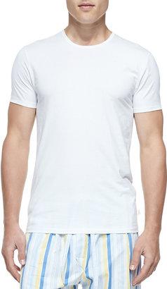 Derek Rose Jack Pima Cotton Stretch Crew Neck Undershirt, White