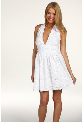 BB Dakota Ilora Halter Dress (Optic White) - Apparel