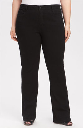 NYDJ 'Barbara' Stretch Bootcut Jeans (Black) (Petite Plus)