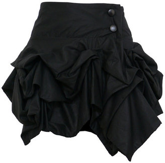 Kelly Ewing Short Hitched Black Skirt