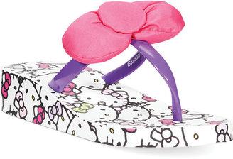 Hello Kitty Girls' Bow Flip Flops