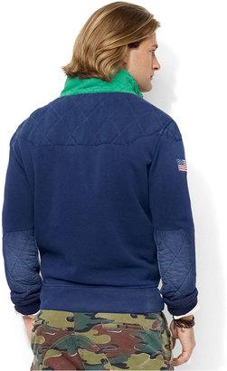 Ralph Lauren Mock Neck Weathered-Fleece Pullover