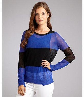 A.L.C. blue and black stripe wool 'Cole' sweater