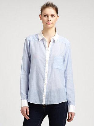 Elizabeth and James Shawn Contrast-Collar Shirt