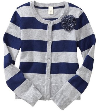 Old Navy Girls Tulle-Flower Striped Cardis