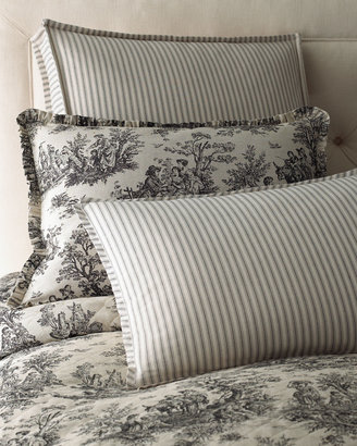 """Legacy Sydney Square Toile Pillow with Piping, 18""""Sq."""