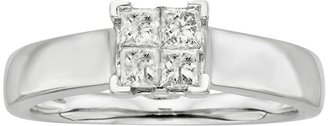14k White Gold 1/2-Ct. T.w. Princess-Cut Diamond Ring