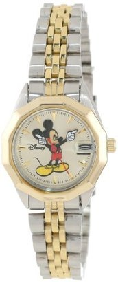 Disney Mickey Mouse Women's MCK342 Classic 'Moving Hands' Two-Tone Bracelet Watch $36.95 thestylecure.com