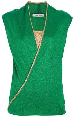 Tsumori Chisato wrap around sleeveless top