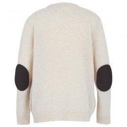 Roberto Cavalli Knit Beige Geometric Wool Sweater