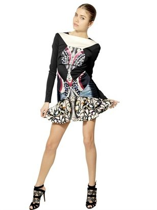 Peter Pilotto Bonded Printed Viscose Jersey Dress