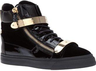Giuseppe Zanotti Design metallic strap hi-top sneakers