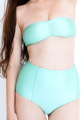 American Apparel Nylon Tricot Ruched Front Bikini Tube Top