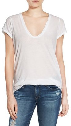 Women's James Perse High Gauge Jersey Deep V Tee $85 thestylecure.com