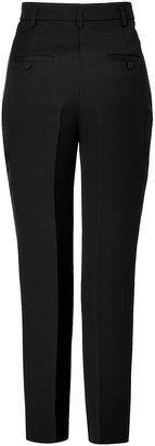 Emilio Pucci Black Wool-Silk High-Waisted Tuxedo Pants