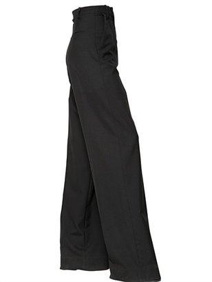 Maison Martin Margiela High Waisted Wool Gabardine Trousers