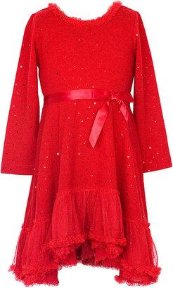 Rare Editions Kids Dress, Little Girl Knit Sparkle Dress