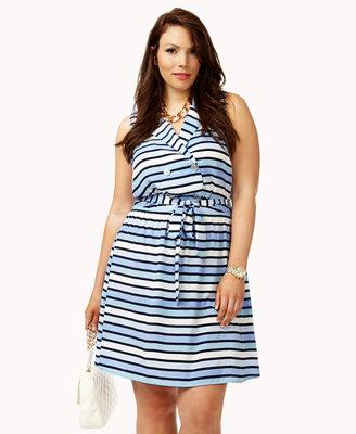 Forever 21 FOREVER 21+ Cutout Nautical Dress