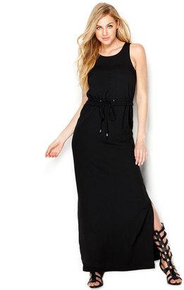 Kensie Drawstring Maxi Dress