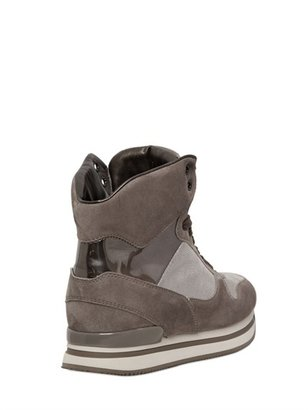 Hogan 60mm Sportivo Suede High Top Sneakers