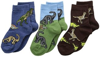 Jefferies Socks Dino Triple Treat 3-Pack (Infant/Toddler/Little Kid) (Pine) Boys Shoes