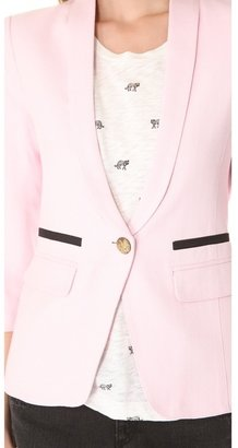 Smythe One Button Shawl Blazer