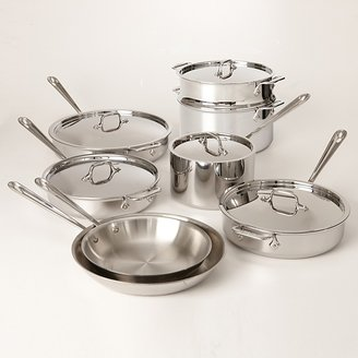 All-Clad Stainless Steel 13-Piece Cookware Set