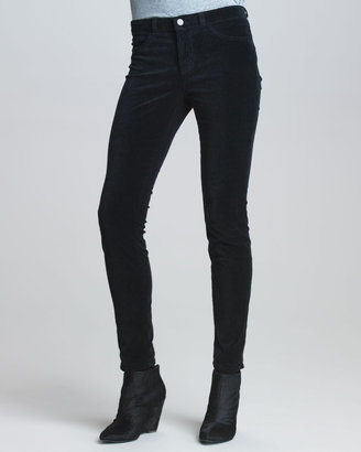 J Brand Jeans 801 Charcoal Velvet Skinny Jeans