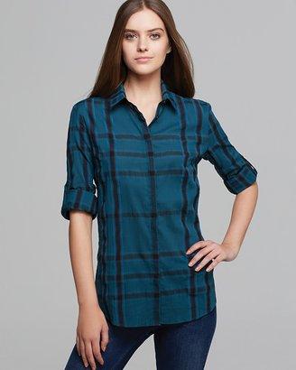 Burberry Check Button Down Shirt