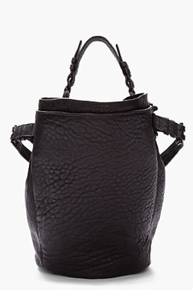 Alexander Wang Black Leather matte studded Diego Bucket bag